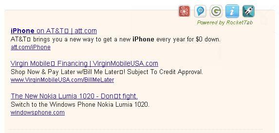 rocket tab ads