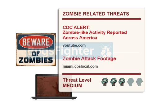 anuncios de invasión de zombies