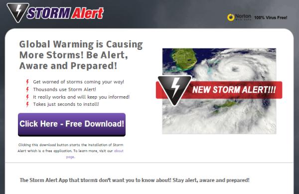 anuncios de alerta de tormenta