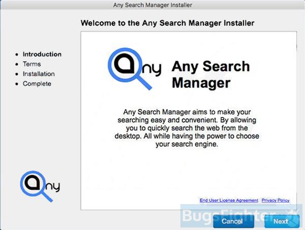 qualsiasi gestore di ricerca su mac