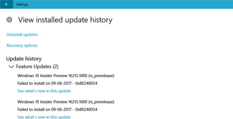 error de actualización de Windows 0x80240034