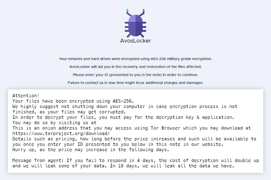 avoslocker ransomware