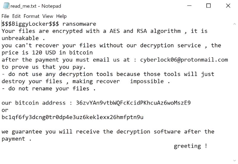 ransomware biggylocker