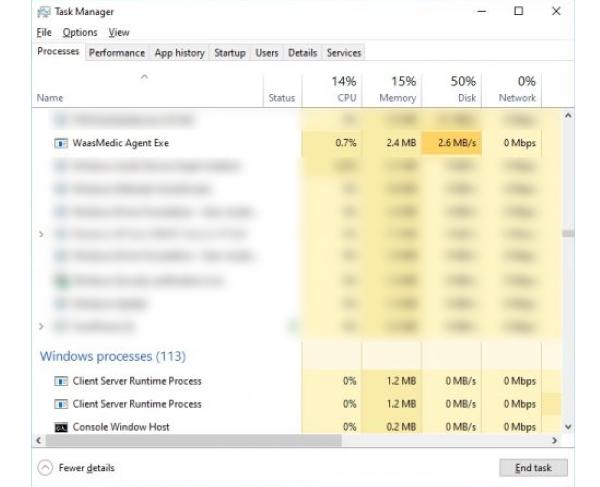 WaasMedic Agent Exe High CPU and Disk Usage